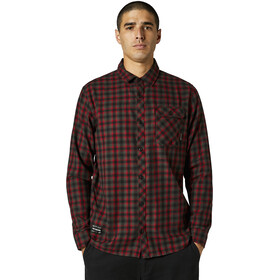Fox Reeves Woven LS Shirt Men, black/red